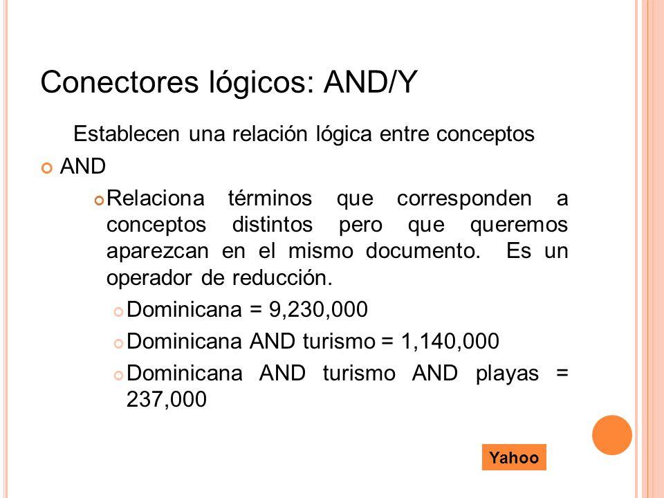Conectores lógicos: AND/Y