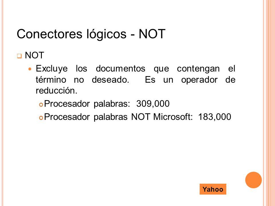 Conectores lógicos - NOT
