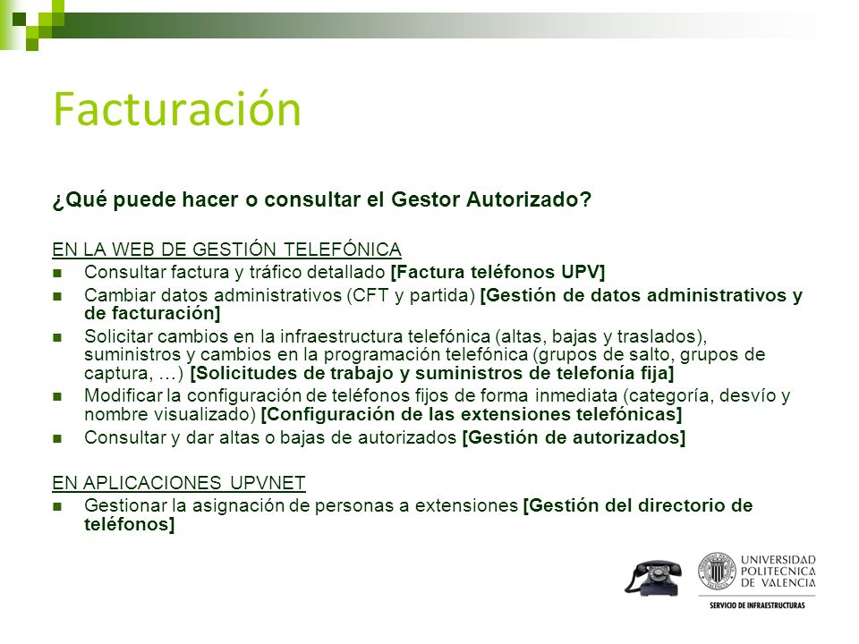 Facturación ¿Qué puede hacer o consultar el Gestor Autorizado