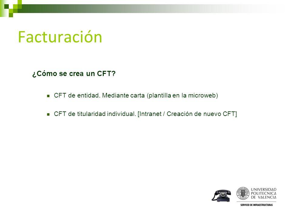 Facturación ¿Cómo se crea un CFT