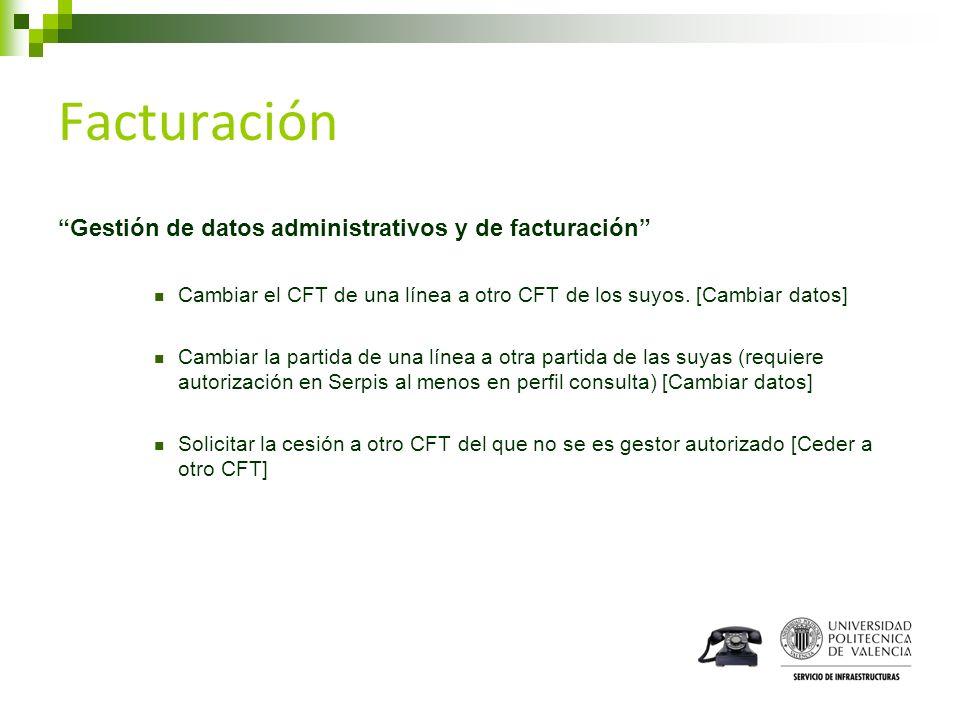 Facturación Gestión de datos administrativos y de facturación