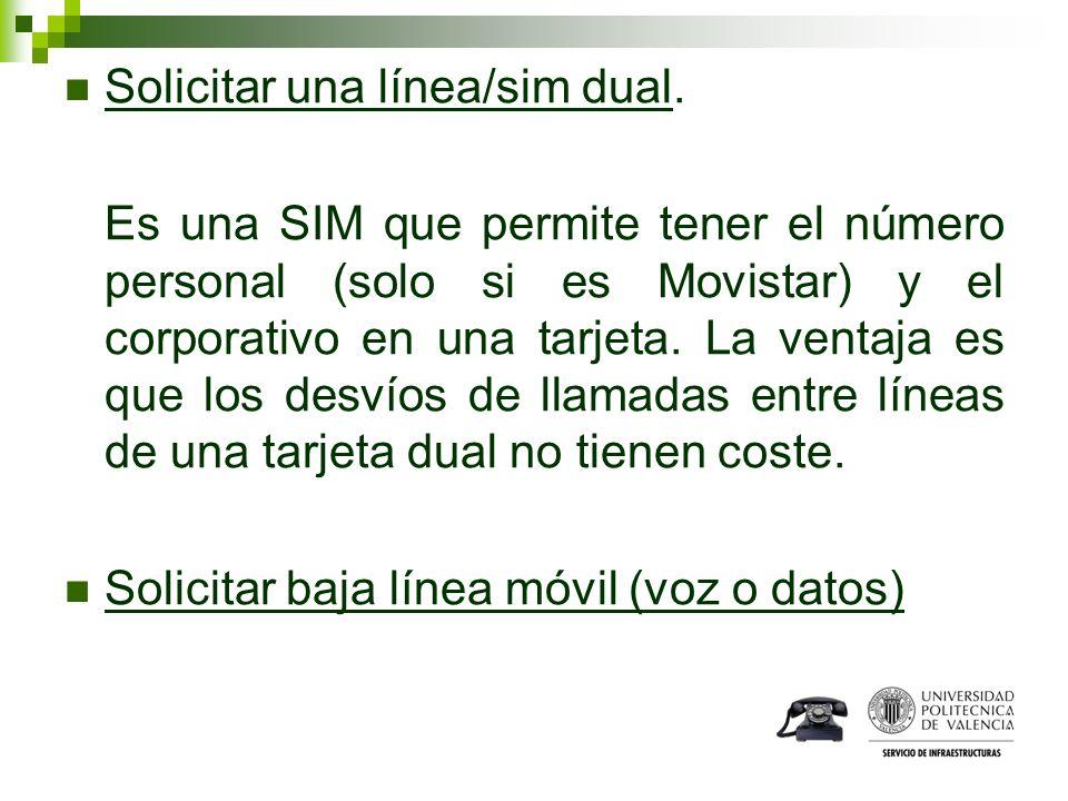 Solicitar una línea/sim dual.