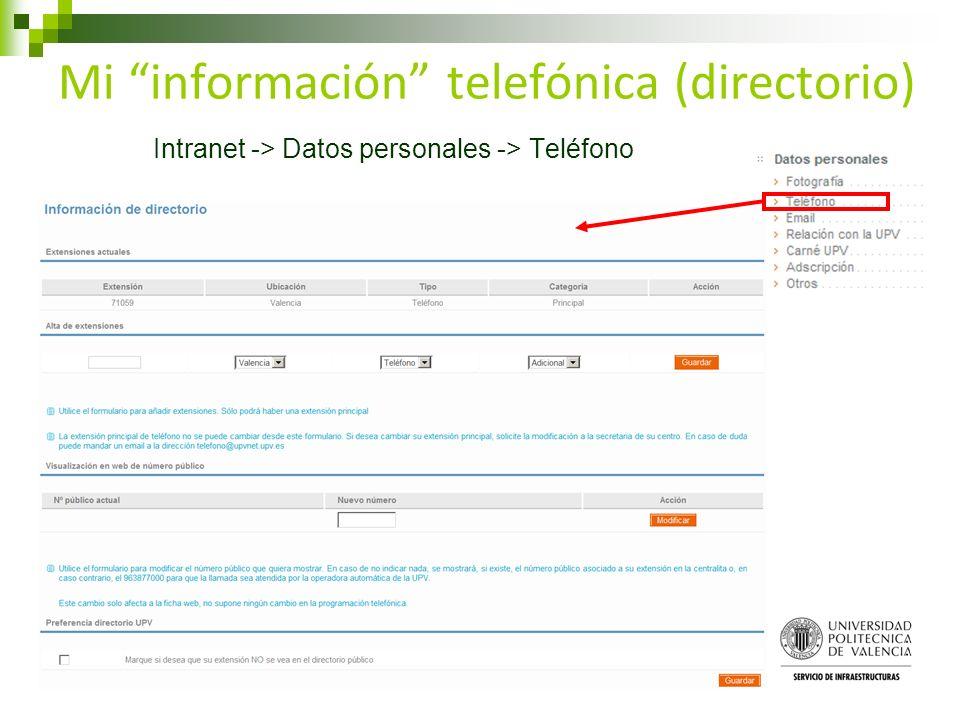 Mi información telefónica (directorio)