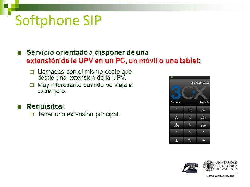 Softphone SIP Servicio orientado a disponer de una