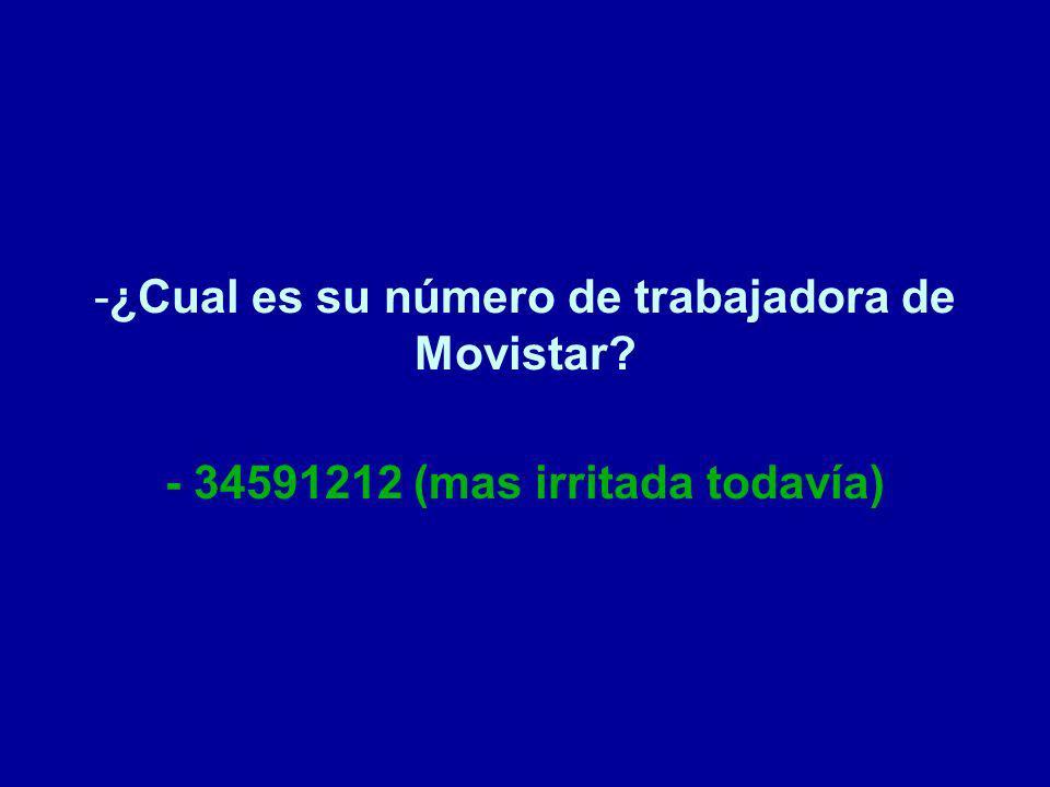 ¿Cual es su número de trabajadora de Movistar