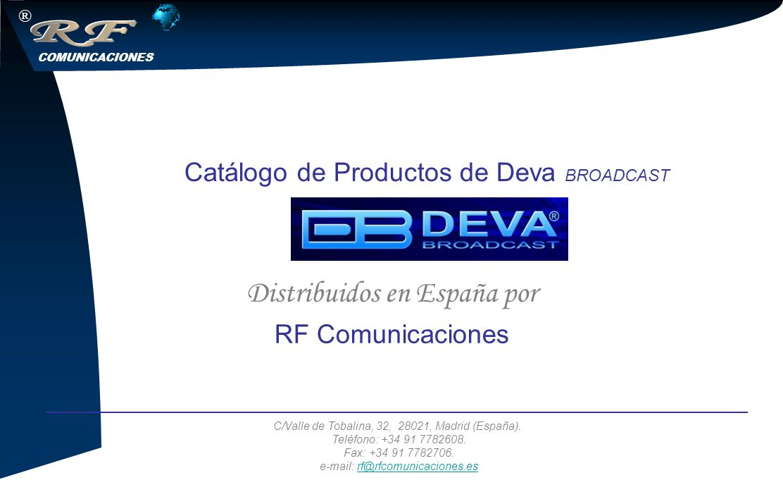 Catálogo de Productos de Deva BROADCAST