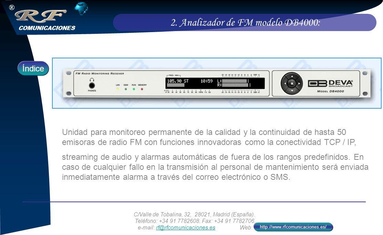 2. Analizador de FM modelo DB4000: