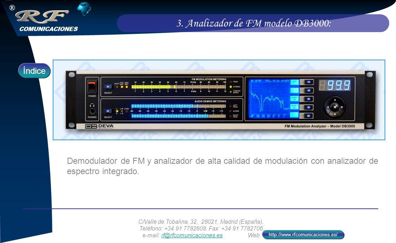 3. Analizador de FM modelo DB3000: