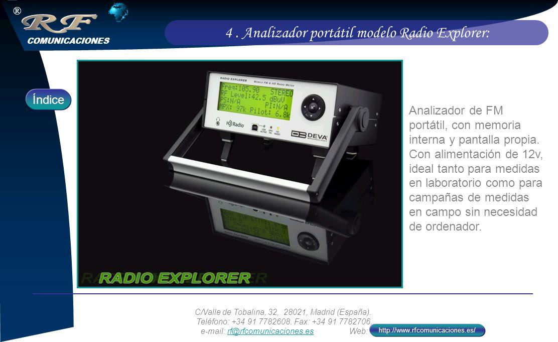 4 . Analizador portátil modelo Radio Explorer: