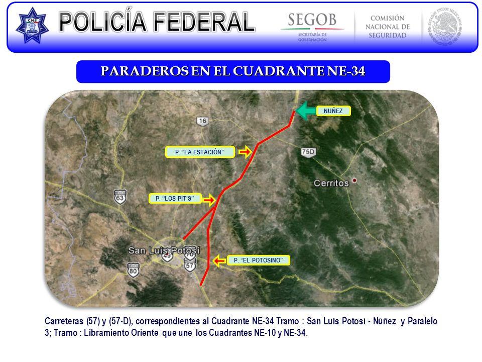 PARADEROS EN EL CUADRANTE NE-34