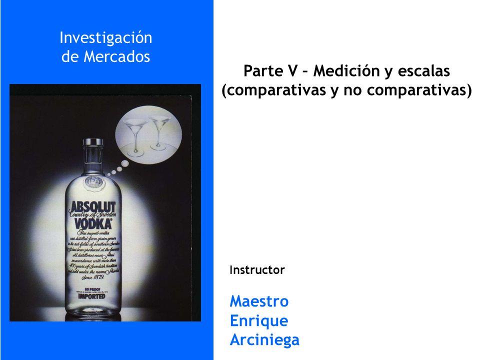 Parte V – Medición y escalas (comparativas y no comparativas)