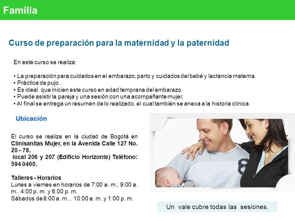 Familia Curso de preparación para la maternidad y la paternidad