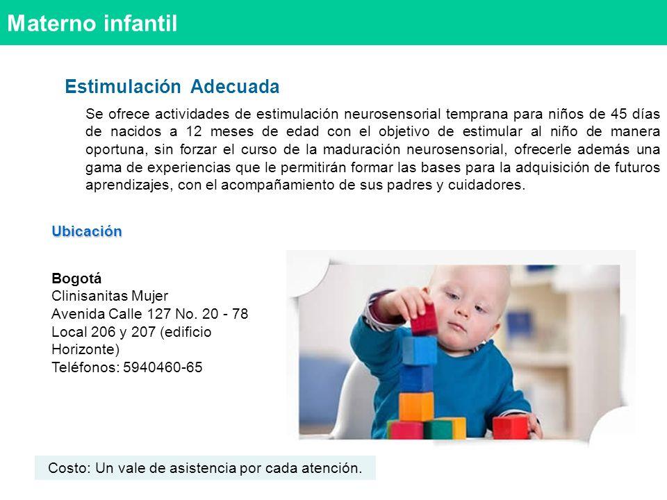 Materno infantil Estimulación Adecuada