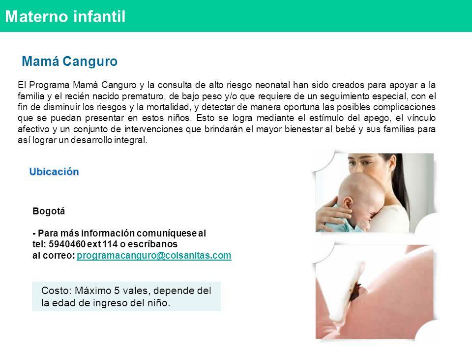Materno infantil Mamá Canguro Ubicación
