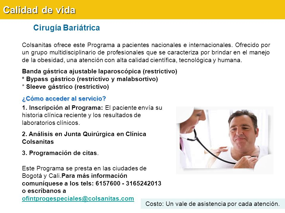 Calidad de vida Cirugía Bariátrica