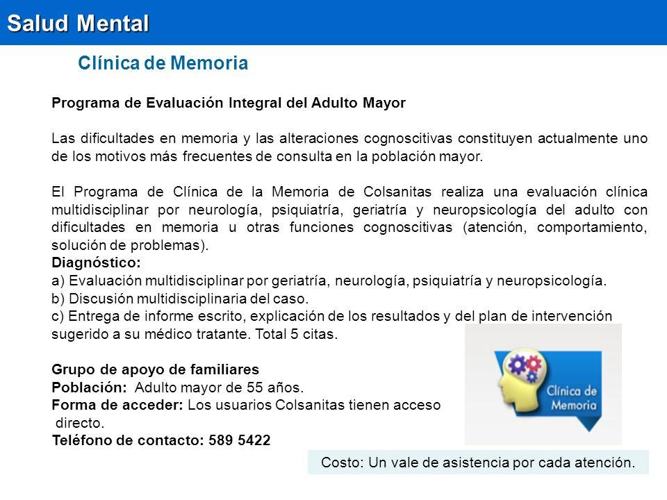 Salud Mental Clínica de Memoria