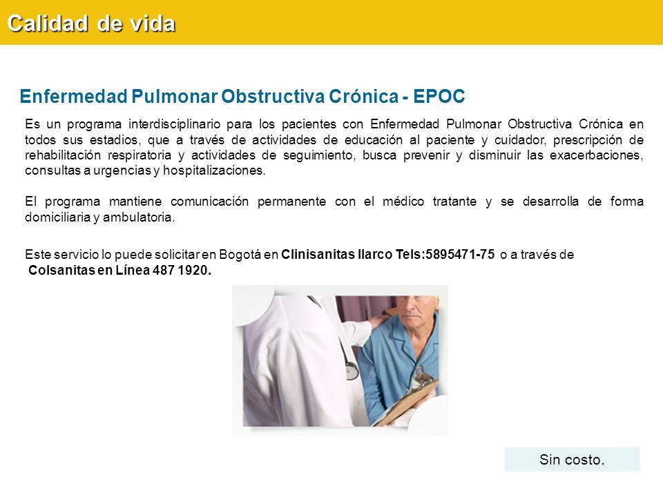 Calidad de vida Enfermedad Pulmonar Obstructiva Crónica - EPOC