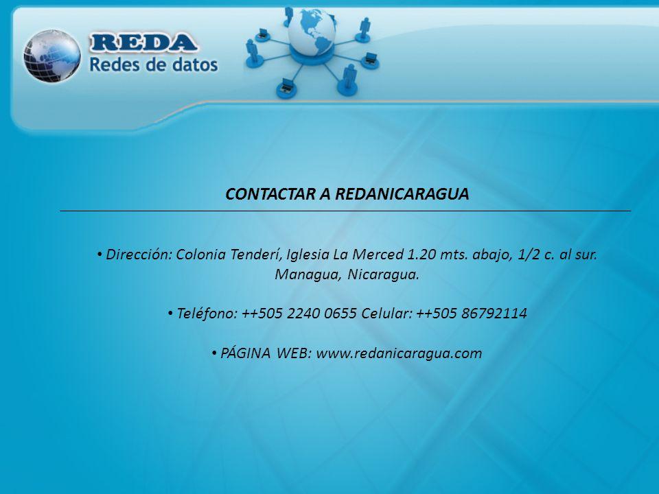 CONTACTAR A REDANICARAGUA