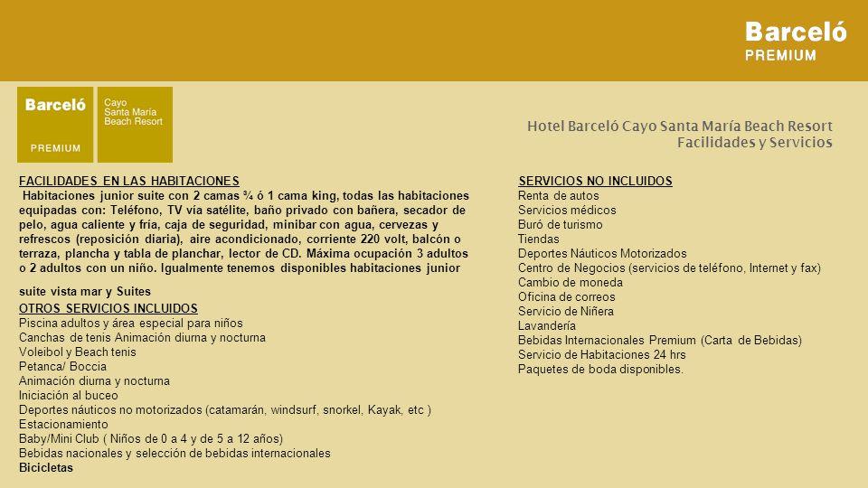 Hotel Barceló Cayo Santa María Beach Resort Facilidades y Servicios