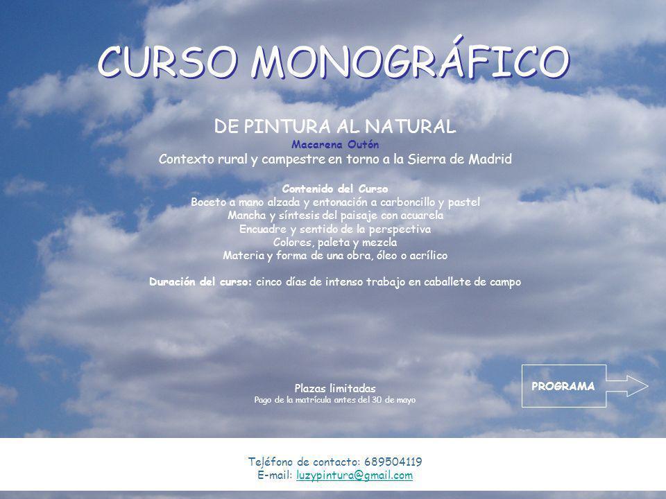 CURSO MONOGRÁFICO DE PINTURA AL NATURAL