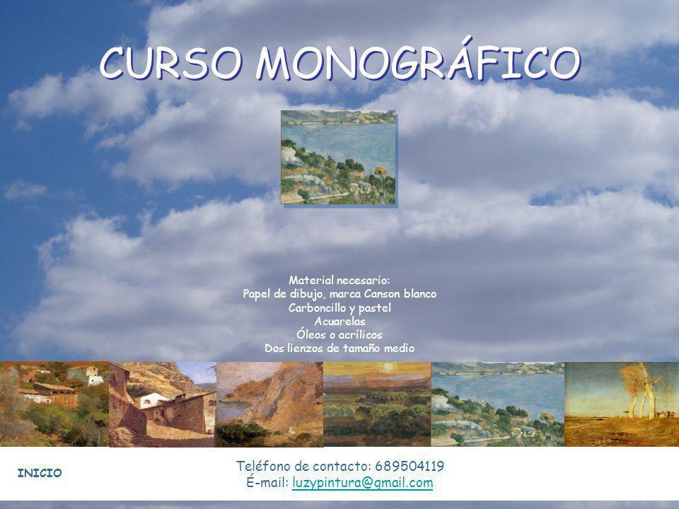 CURSO MONOGRÁFICO Teléfono de contacto: 689504119