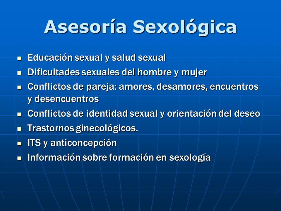 Asesoría Sexológica Educación sexual y salud sexual