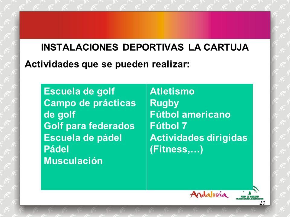 INSTALACIONES DEPORTIVAS LA CARTUJA