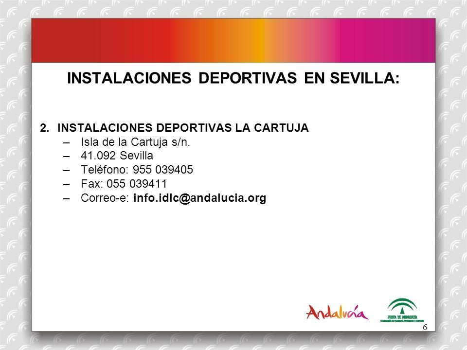 INSTALACIONES DEPORTIVAS EN SEVILLA: