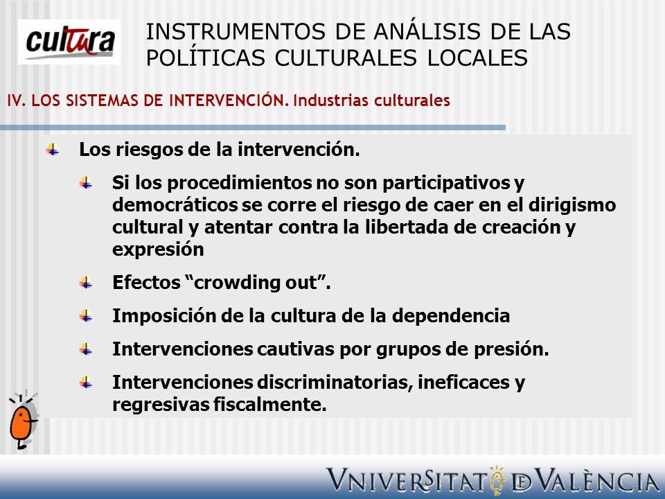 INSTRUMENTOS DE ANÁLISIS DE LAS POLÍTICAS CULTURALES LOCALES