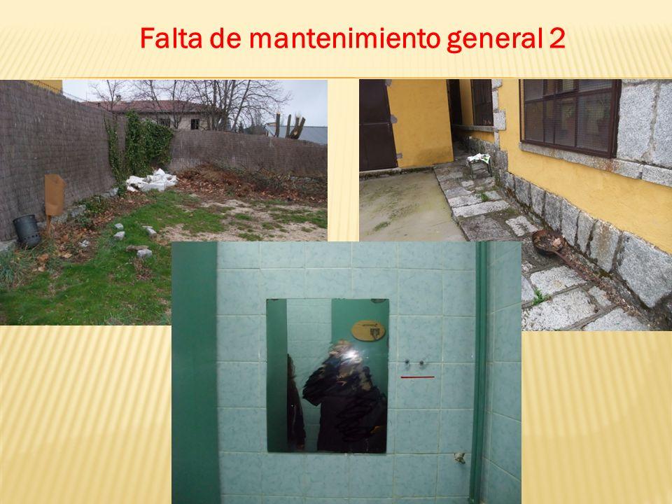 Falta de mantenimiento general 2