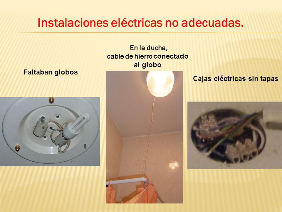 Instalaciones eléctricas no adecuadas.