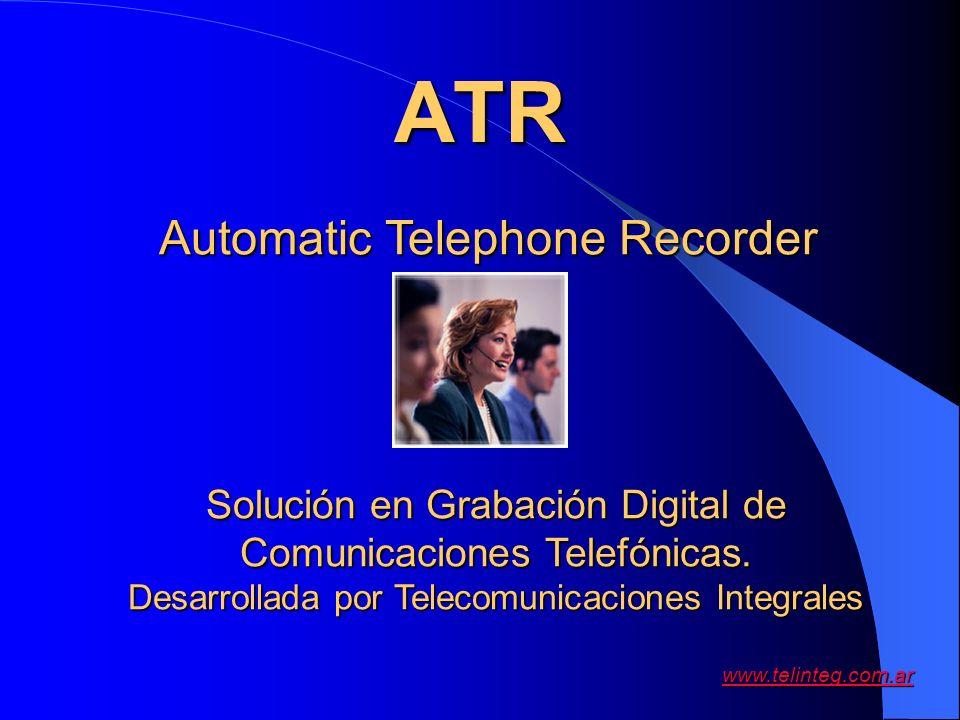 ATR Automatic Telephone Recorder