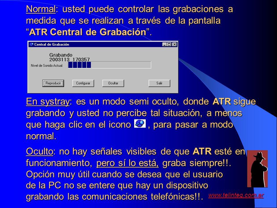 ATR Central de Grabación .