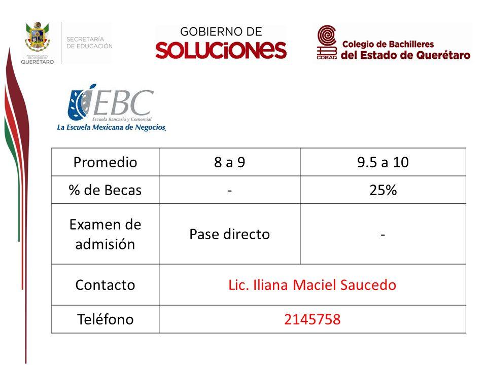 Lic. Iliana Maciel Saucedo