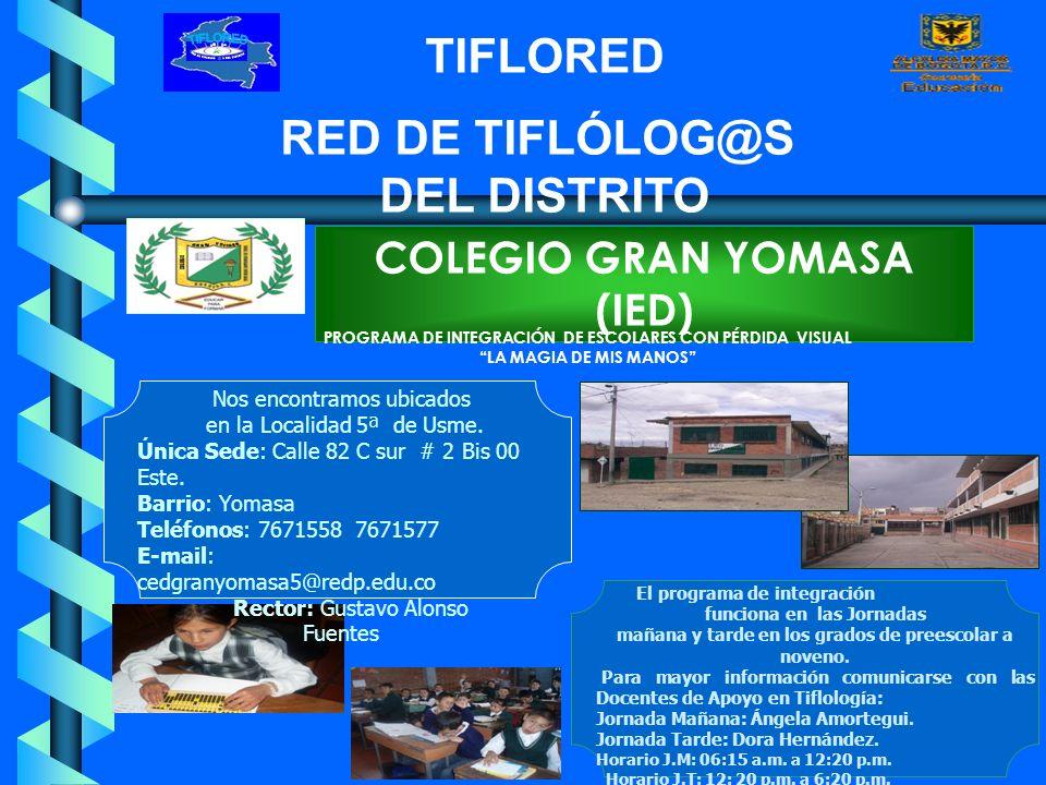 RED DE TIFLOLOG S DEL DISTRITO @