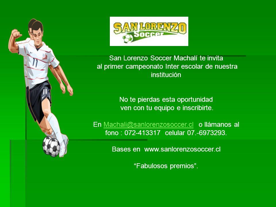 San Lorenzo Soccer Machalí te invita