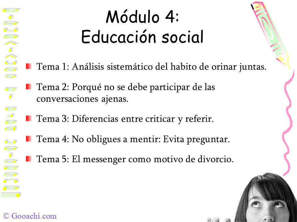 Módulo 4: Educación social