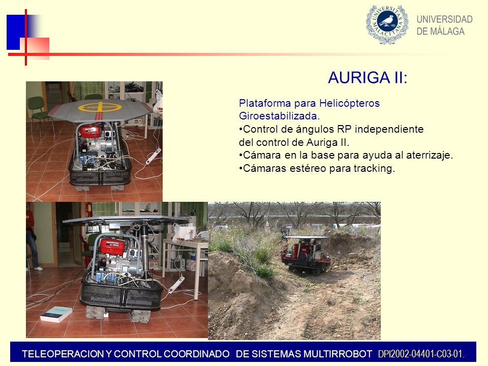 AURIGA II: Plataforma para Helicópteros Giroestabilizada.