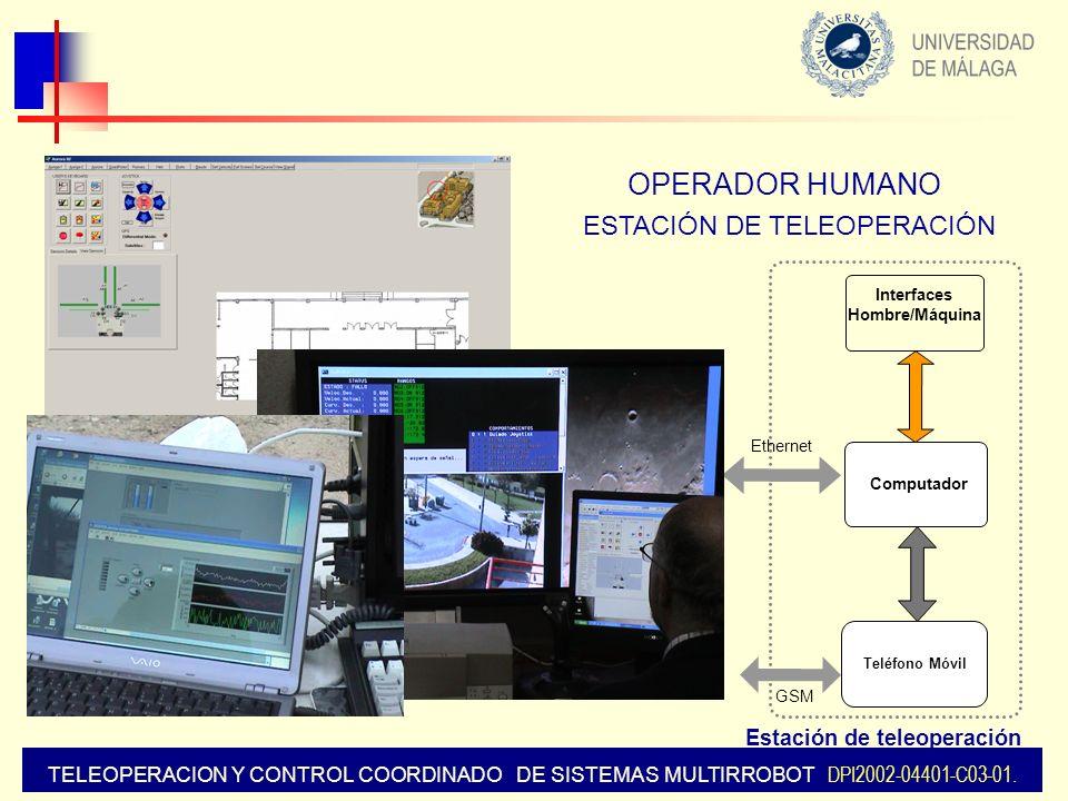 OPERADOR HUMANO ESTACIÓN DE TELEOPERACIÓN Estación de teleoperación
