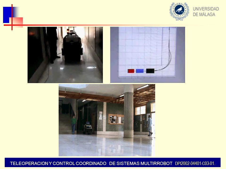 TELEOPERACION Y CONTROL COORDINADO DE SISTEMAS MULTIRROBOT DPI2002-04401-C03-01.