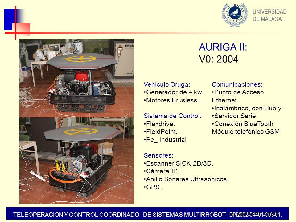 AURIGA II: V0: 2004 Vehiculo Oruga: Generador de 4 kw