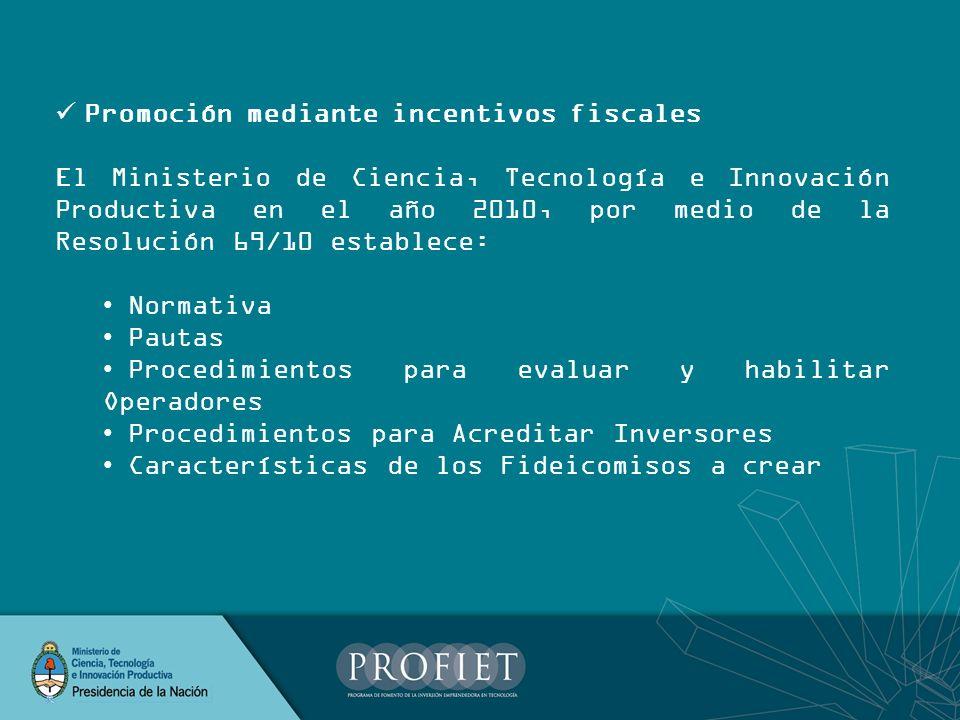 Promoción mediante incentivos fiscales