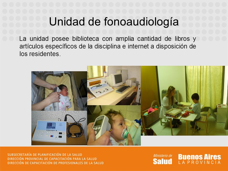 Unidad de fonoaudiología