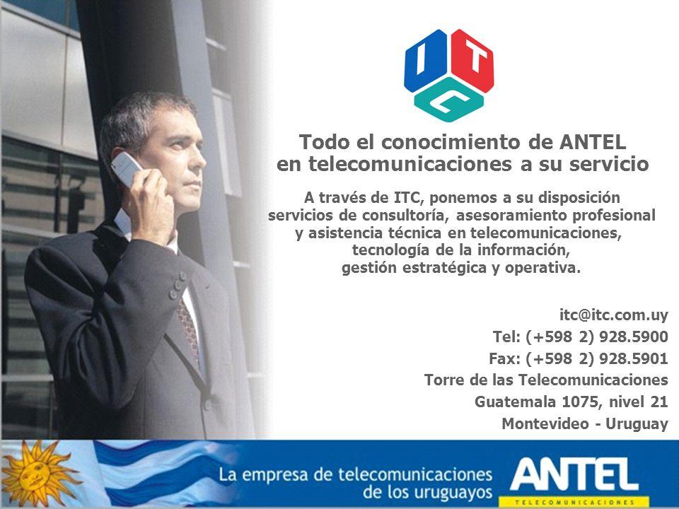 Todo el conocimiento de ANTEL en telecomunicaciones a su servicio