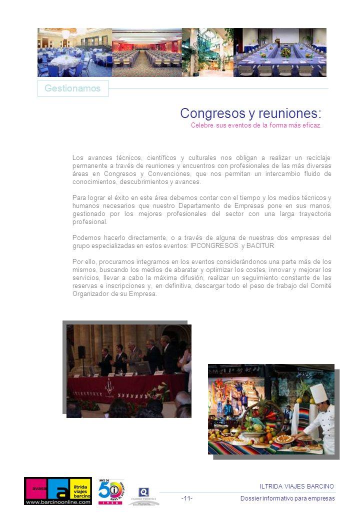 Congresos y reuniones: