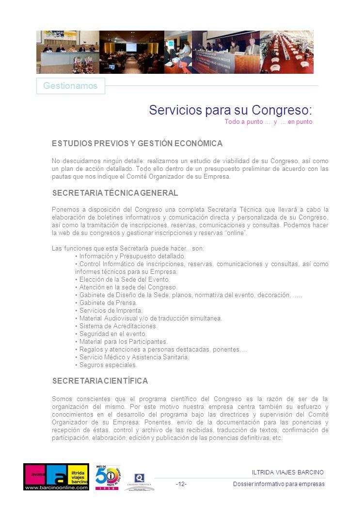 Servicios para su Congreso: