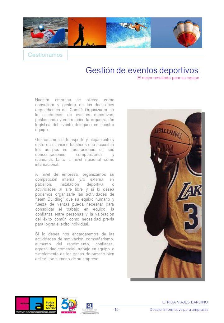 Gestión de eventos deportivos: