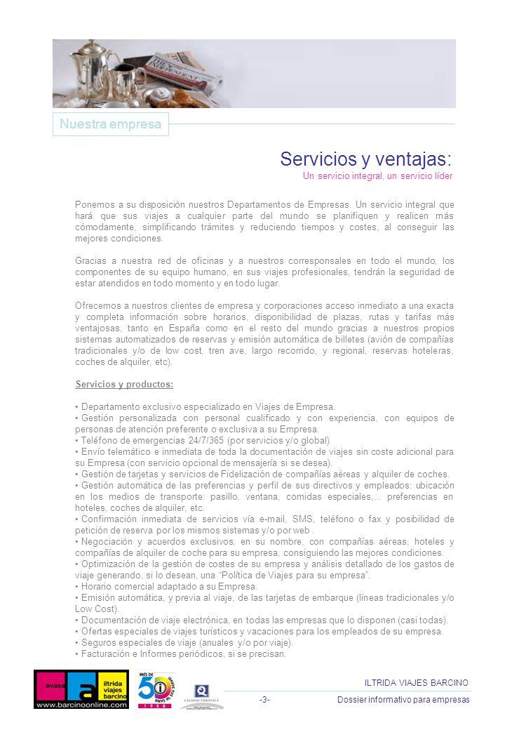 Servicios y ventajas: Nuestra empresa