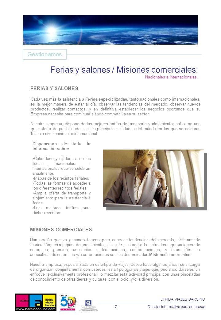 Ferias y salones / Misiones comerciales: