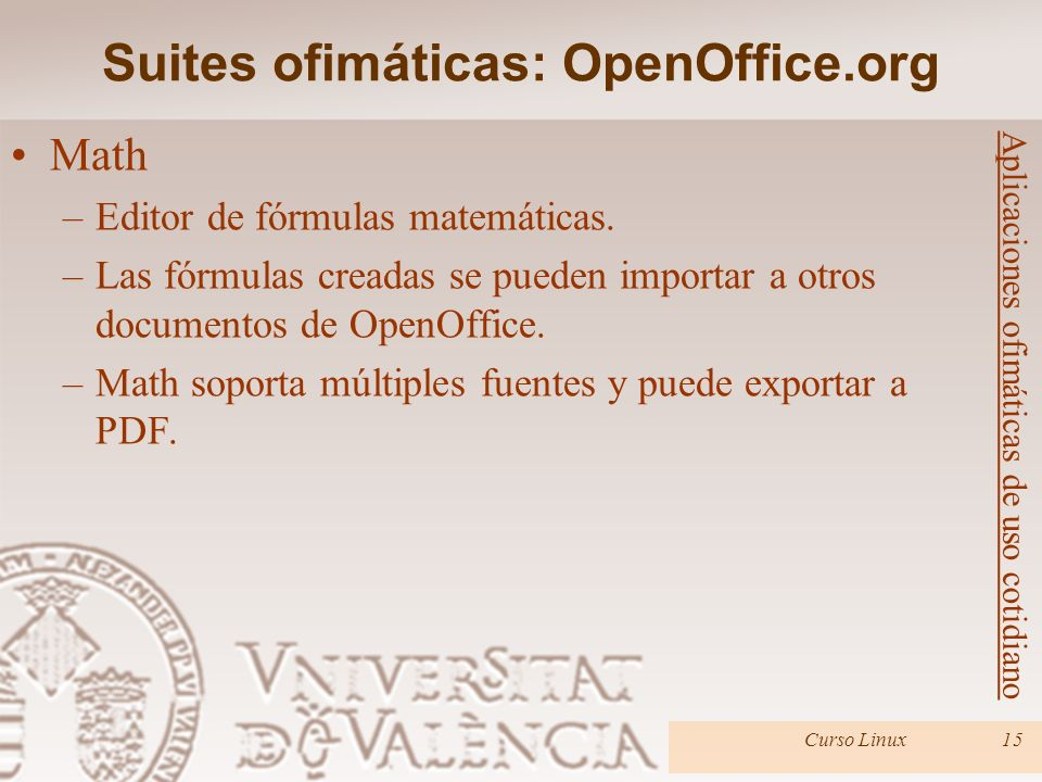 Suites ofimáticas: OpenOffice.org